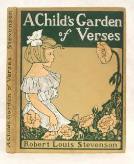 1902 Old Antique A Child's Garden of Verses Art Nouveau Children's Poetry Book