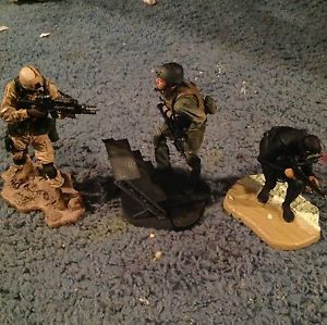 Lot of 3 Army Military McFarlane Figures Navy Seal Air Force Camo Soldiers Toys
