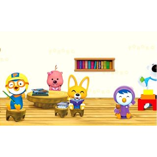 Pororo Classroom Wall Decor Decals Border Sticker 4