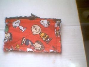 Rag Quilt Coin Change Purse Peanuts Gang Charlie Brown