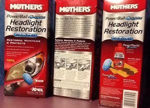 3 New Mothers 07250 Powerball Headlight Restoration Kit Cleaning