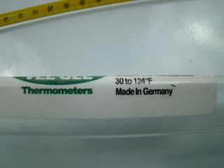 SLW 30 124°F Glass Nitrogen Filled Thermometer 1002 LMM sama FT40 N16B