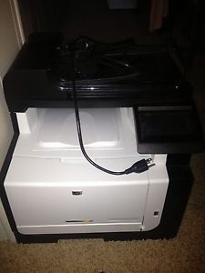 HP Laser Jet Pro CM1415fnw Color MFP Printer Fax Copy Scan Defective See Detail