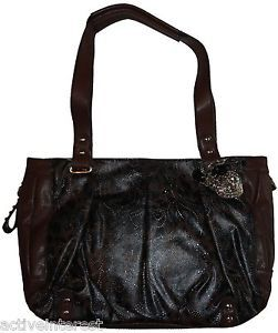 Kathy Van Zeeland Picture Perfect Cocoa Tote Bag Womens Satchel Hand Bag New