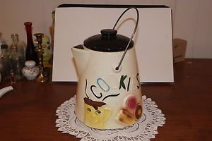 Vintage Americ Bisque Coffee Pot Cookie Jar