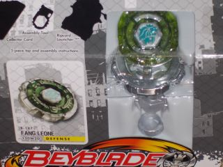 New Hasbro Beyblade Metal Fury Fang Leone B 147 130W2D Defense Performance Top
