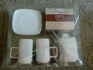 Details about Cafe Claire COFFEE Espresso Coffee Gift Set Cups Saucers
