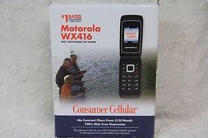 A Motorola WX416 Flip Phone Consumer Cellular