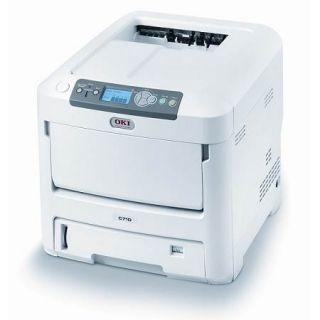 Oki C710N Workgroup Laser Color Printer Tesed Network Okidata Page Count 42236 051851183640