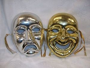 Comedy Tragedy Masks Wall