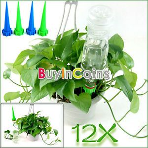 12pcs Garden Cone Watering Spike Plant Flower Waterers Bottle Irrigation System