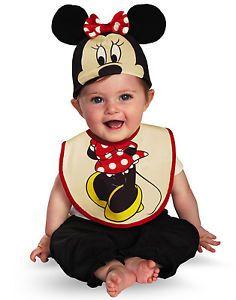 Disney Minnie Mouse Baby Bib Hat Boys Baby Newborn Costume Infant 0 6 Mths