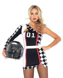 Leg Avenue Women's Adult NASCAR Race Car Driver Costume Dress Belt s M