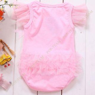 Kid Baby Girl Princess Short Top Suit Dress Costume Cloth Clothing 0 3Y TYA5