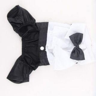 Handsome Western Style Suit Bow Tie Costume Small Puppy Dog Clothes Jumpsuit
