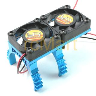 Yeah Racing Ya 0258BU Super Light Twin Fan Heat Sink BU Cooling Fan Motors
