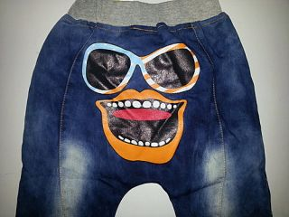 Cartoon Pants Kids Boys Girls Baby Jeans Cowboy Blue Trousers Party Costume 3 8Y