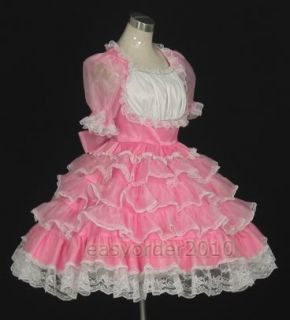 Adult Baby Sissy Dress Costume Frilly Custom Made 07