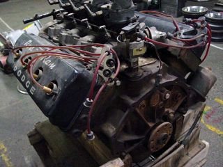 Hot Rod 241 Dodge Hemi Engine 4 Stromberg 97 Carbs and Weiand Intake Manifold