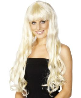 Womens Long Blonde Paris Hilton Wig Costume Accessory