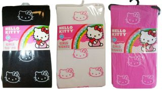 Licensed Sanrio Hello Kitty Kids Girls Tights Pantyhose Stocking s M M L