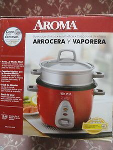 Aroma Rice Cooker Food Steamer Arc 733 1NGR Red