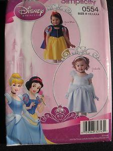 Pattern Halloween Costume Toddler Uncut Disney Princess Cinderella Snow White B