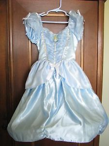 Cinderella Costume Disney Girls Dress Up Halloween Size 4 6X