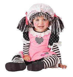 Infant Pink Baby Doll Halloween Costume