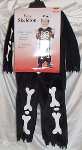 Jack Skellington Fuzzy Skeleton 2T 4T Kids Toddler Halloween Costume Mask Suit