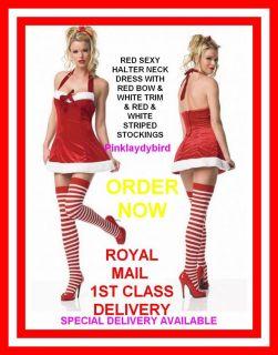 Miss Sexy Santa Baby Helper Ladies Womens Christmas Fancy Dress Costume Clothes