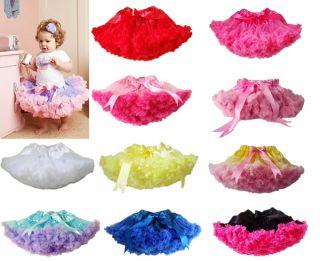 Baby Girl Kids Pettiskirt Tutu Skirt Dress Party Dance Costume Pageant Clothes