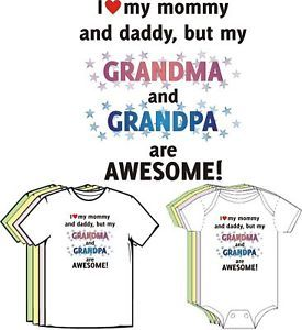Grandma Grandpa Are Awesome Funny Cute Baby Clothes