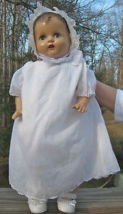 Antique Composition Baby Mama Doll AX Madame Alexander Mollye 21'' Clothes Dress