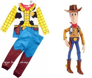 Baby Boy Cartoon Character Woody Costume Pajamas 2 Pieces Set 12M 8 Years