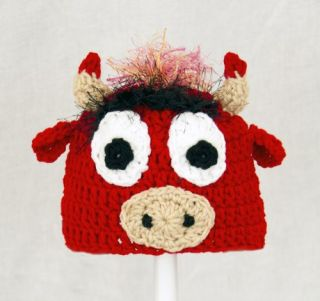 Benny The Bull Hat from Chicago Bulls Red Basketball Beanie Baby Adult