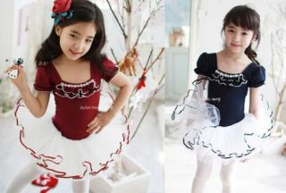 Girls Kids Party Fairy Ballet Dance Costume Tutu Skate Dress Skirt 3 9Y Lovely