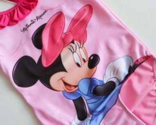 Free Shipping Girls Baby Minnie Mouse Bikini Swimsuit Swimwear Bathers 2 9Y