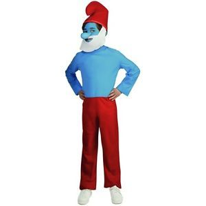 Papa Smurf The Smurfs Adult Mens 1980's Classic Cartoon Halloween Costume