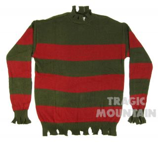 Freddy Krueger Deluxe Sweater Costume Adult Medium Large