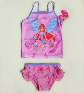 Winx Club Girl Swimsuit Bikini Swimwear Tankini 2 10Y Two Piece Swimming Costume