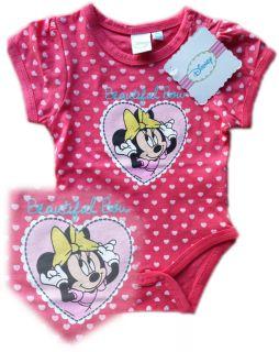 New Disney Minnie Mouse Babygrow Bodysuit Baby Girl 12 18 Months 86cm Pink