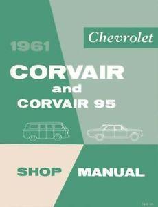 1961 Chevrolet Corvair Shop Service Repair Manual Book Engine Drivetrain Wiring