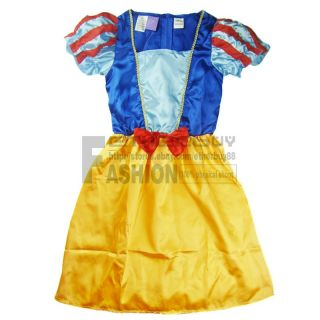 Baby Halloween Xmas Deluxe Snow White Costume Princess Birthday Party Dress 3T