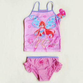 Girls Tinkerbell Fairy Winx Club Tankini Swimsuit Swimwear Bathing Suit Sz 4 5