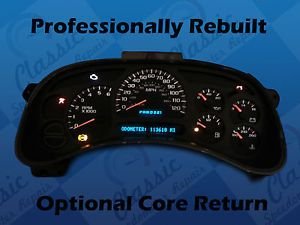 2005 avalanche instrument cluster