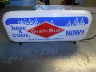 1960s Grain Belt Beer Cash Register Sign