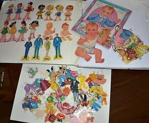 Vintage Paper Dolls Clothing Big Lot 50s 60s 70s Sweetest Baby Babies Kids