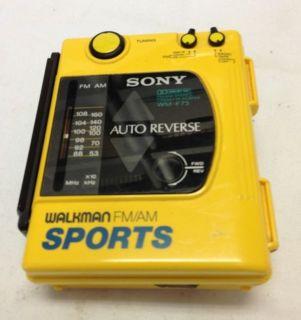 Vtg Sony Am FM Radio Auto Reverse Cassette Tape Player Walkman Sports Wm F63 F73