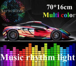 Car Sticker Music Rhythm LED Flash Light Lamp Sound Activated Equalizer 70x16cm